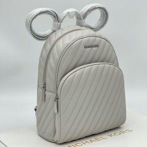 Michael Kors Abbey Medium Backpack Aluminum